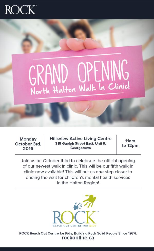 ROCK Opens New North Halton Walk-in Clinic